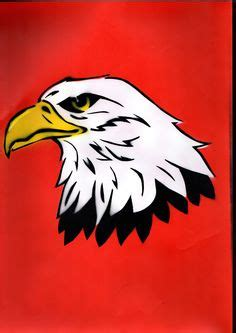 spray paint eagle flags stencils and flags on