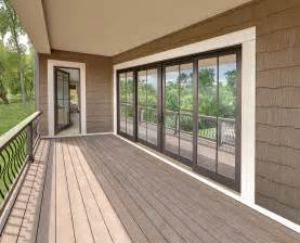 4 Panel Sliding Patio Doors Four Panel Sliding Door With Simulated Divided Lite Exterior Marvin Photo