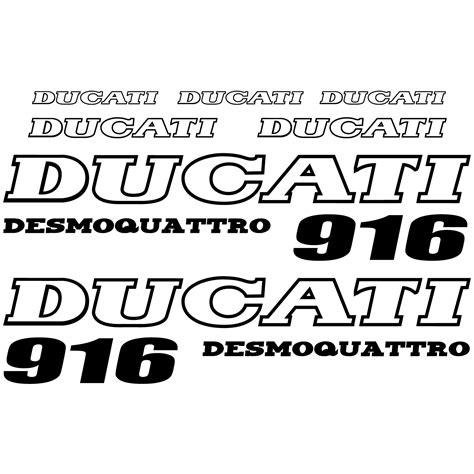 Ducati Wall Sticker by Wallstickers Folies Ducati 916 Desmo Decal Stickers Kit