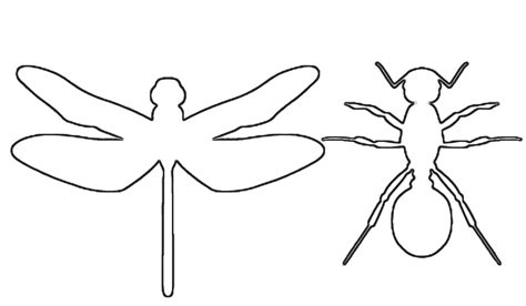 insect templates fish outline template cliparts co