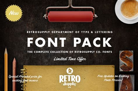 font pack save 70 retrosupply font pack fonts on creative market