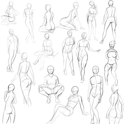 1 Minute Pose Sketches by 5 Minute Pinup Pose Sketches By Jay156 On Deviantart