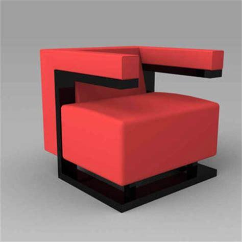 armchair f 51 f 51 bauhaus chair 3d model formfonts 3d models textures