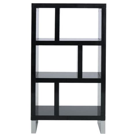 black 3 shelf bookcase buy costilla 3 shelf bookcase black gloss from our