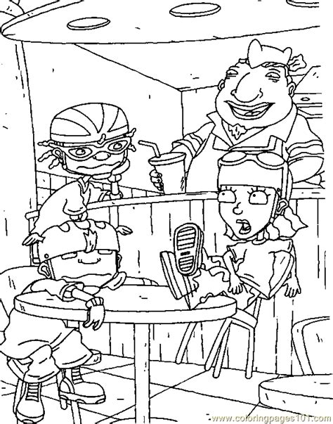 bottle rocket coloring page rocket power001 8 coloring page free rocket power