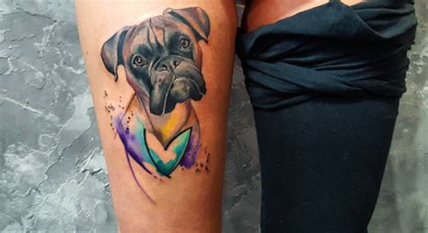boxer dog tattoo 40 amazing tattoos for tattooblend