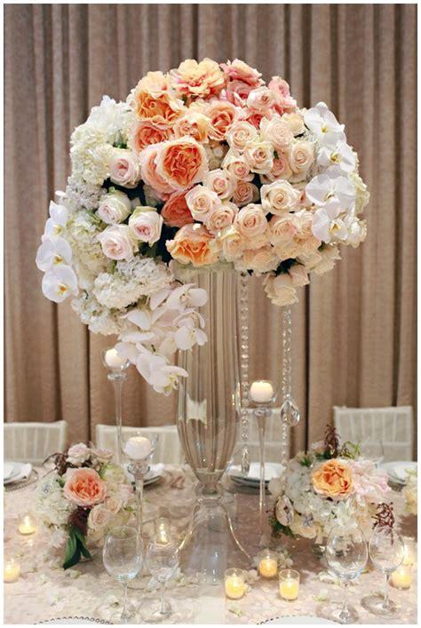 Tall Coral Wedding Centerpiece With Roseswedwebtalks Coral Centerpiece Ideas