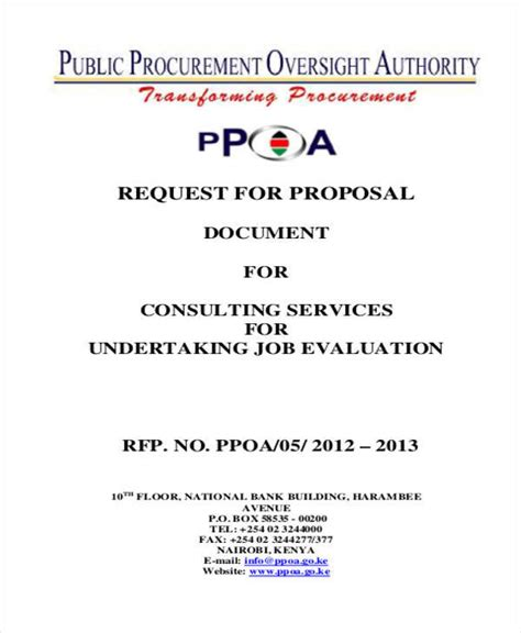 proposal format for job consultancy 39 free proposal templates