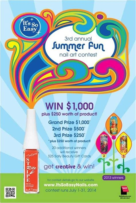 Easy Contests To Win Money - win big enter it s so easy s summer fun nail art contest nails magazine