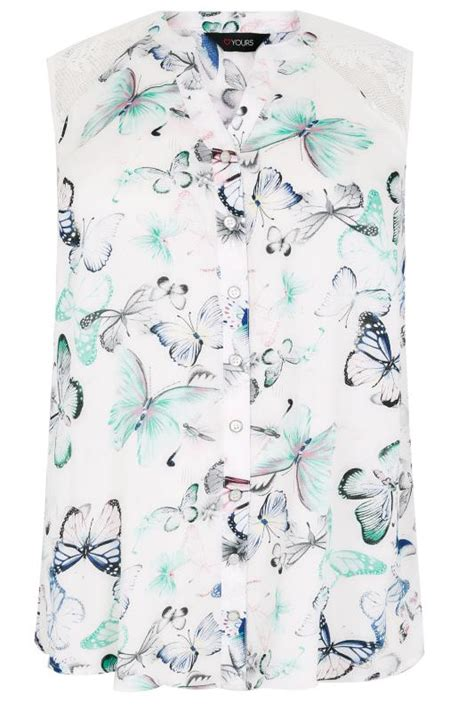 Fei Li Button Motif Leather Handbag Set Pastel white multi butterfly sleeveless shirt with crochet lace