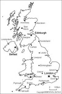 Large Outline Map Of Uk by イギリス白地図 旅行のとも Zentech
