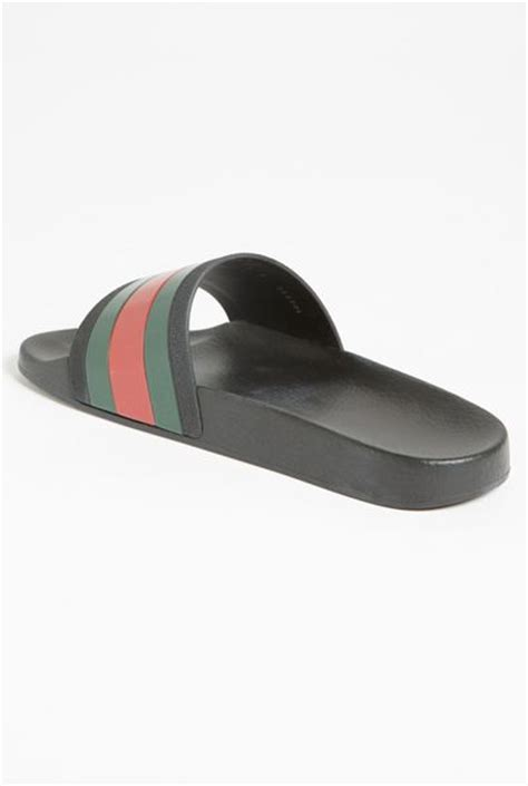 gucci pursuit 72 slide sandals gucci pursuit 72 slide sandal in green for black