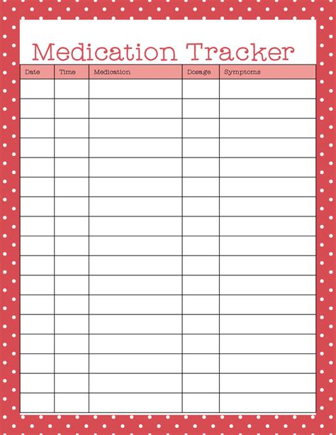 medication chart template free free printables medication tracker is useful for