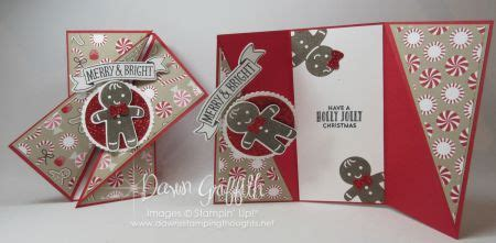 diagonal gate fold card video dawns stamping thoughts cards christmas cards diy