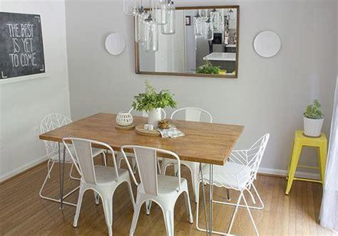Ikea Dining Table Legs Diy Dining Table Ikea Numerar Butcherblock In Beech 73 X 39 Iron Hairpin Legs From