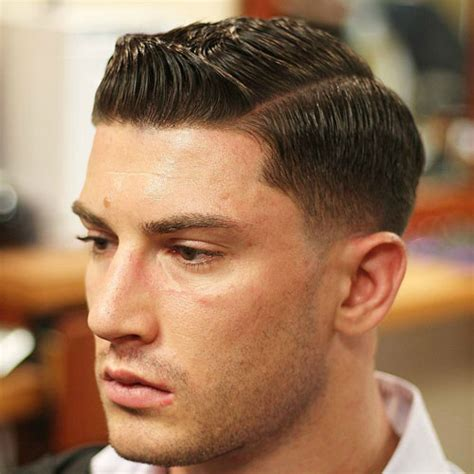 Side Part Haircut Low Fade With Hard Part