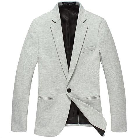 light gray blazer mens new sale modern polka dot korean thin light gray blazer