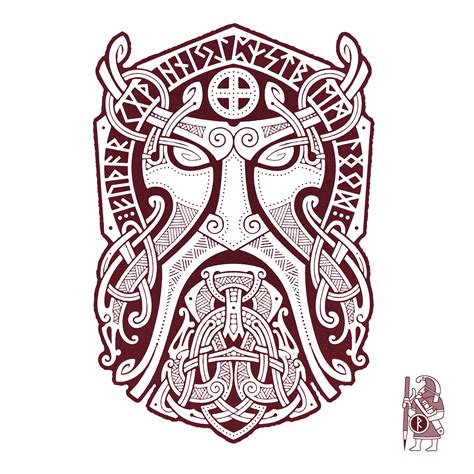 norse rune tattoo designs thor godmask knotwork design by raidho celtic