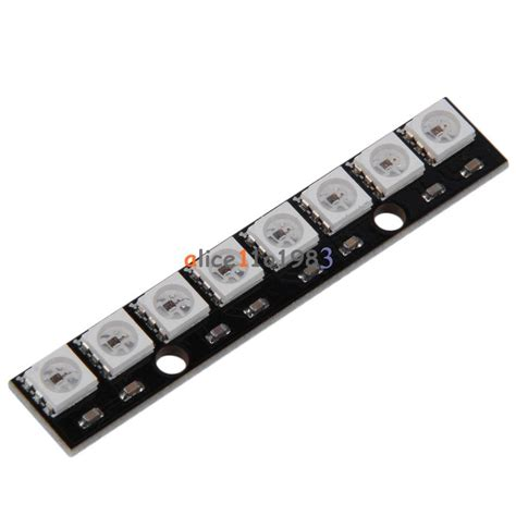 Black 8 Channel Ws2812 5050 Rgb 8 Leds Light Strip Driver Led Light Arduino