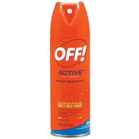is there a spray for bed bugs off active sweat resistant insect repellent 1 6 oz