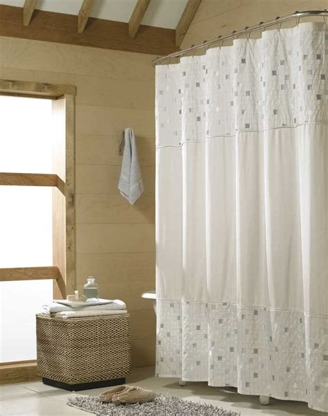 pictures of bathrooms with shower curtains tribeca modern tile shower curtain curtainworks com