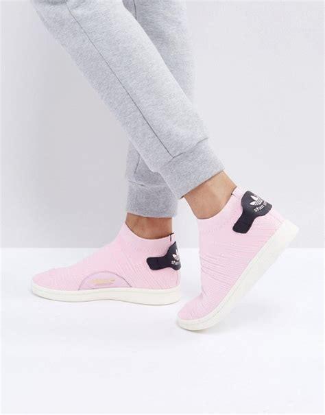 adidas originals adidas originals pink stan smith primeknit sock sneakers