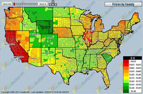 map of us gas prices why do gasoline prices differ across u s states