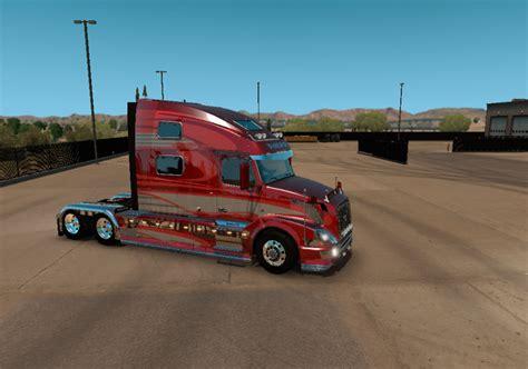 volvo vnl  red fantasy metallic  vnl truck shop  frank brasil mod euro truck simulator