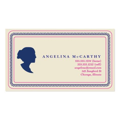 call card templates silhouette calling card sided standard business