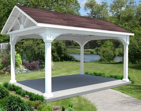 open roof pergola vinyl gable roof open rectangle gazebos with cedar roof decking gazebos by available options