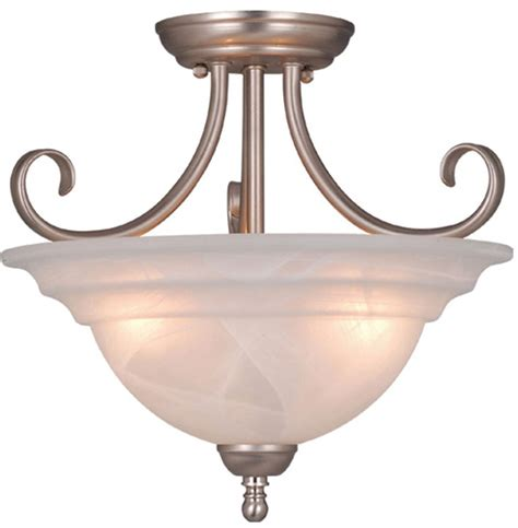 Vaxcel Cf65353bn Babylon Brushed Nickel Finish 14 Quot Wide Brushed Nickel Ceiling Light Fixtures