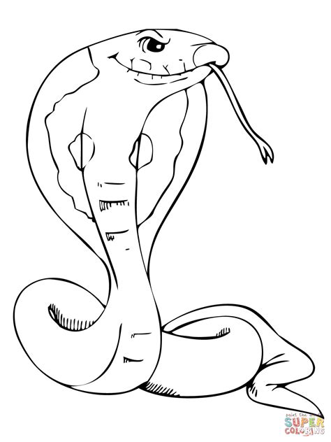 coloring pages of dangerous animals dangerous cobra coloring online super coloring