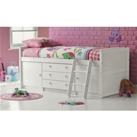 bedroom furniture argos catalogue buy tory single mid sleeper bed frame white at argos co