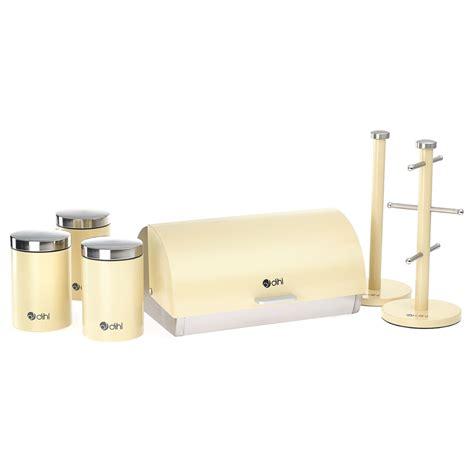 kitchen storage canisters sets dihl 6 kitchen storage set bread bin tea coffee