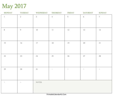 may 2016 calendar holidays 2017 printable calendar may 2017 calendar printable in word pdf monthly