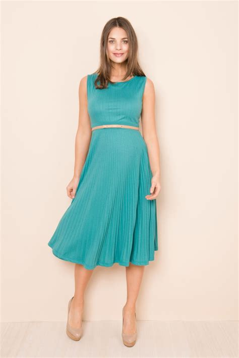 pregnancy styles for young moms knife pleat dress simple cute stylish maternity dress for