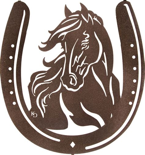 bangs horse shoe cut horse inside horseshoe laser cut metal wall art cutting