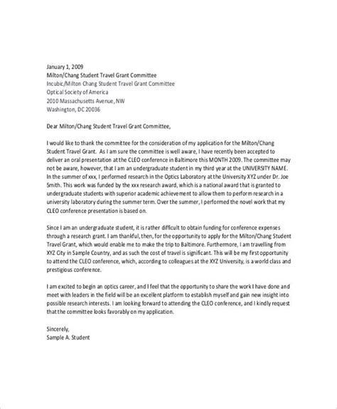 Research Grant Cover Letter Sle research grant application letter sle 28 images 100