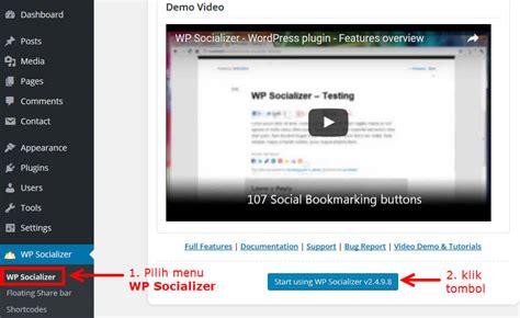 tutorial konfigurasi wordpress tutorial wordpress social media plugin wp socializer