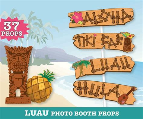 hawaiian photo booth props printable pdf luau photo 72 best images about simplyeverydayme photo booth props