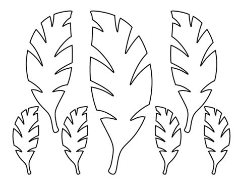 palm tree pattern use the printable outline for crafts stunning palm tree leaf stencil pattern use the printable