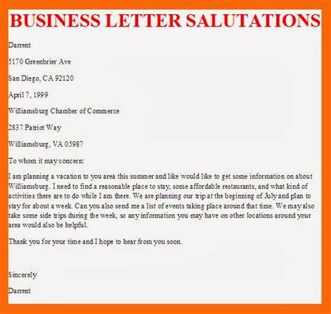 business letter business letter salutations