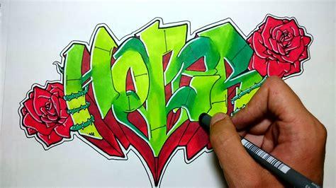 imagenes de grafitis impresionantes graffiti con rosas hoper youtube