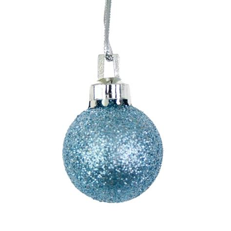 pale blue mixed finish small shatterproof baubles 20 x