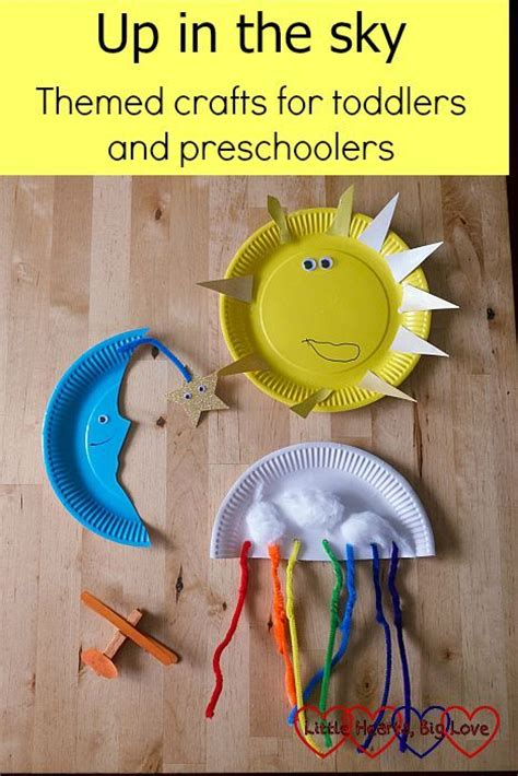 themed crafts up in the sky themed crafts for toddlers and preschoolers