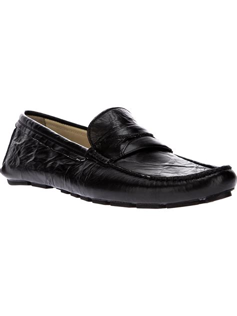 black slip on loafers dolce gabbana slip on loafer in black for lyst