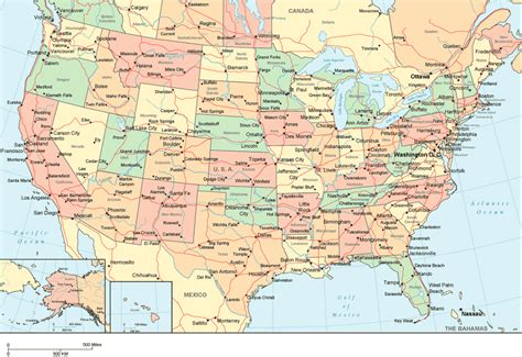 a map of the united states with cities ookgrylerap detailed map of usa with states and