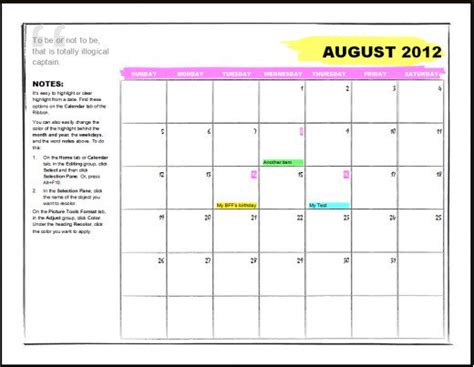 Microsoft Office Calendar Templates Hubpages Calendar Template Microsoft