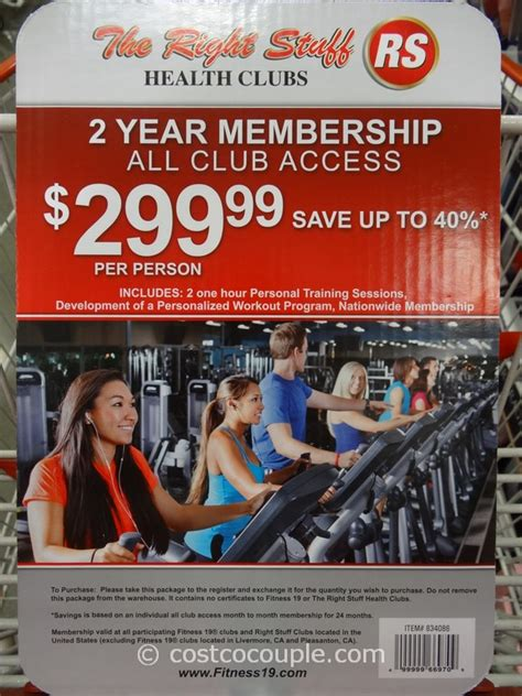 Gym Membership Gift Cards - the right stuff and fitness 19 health clubs gift card