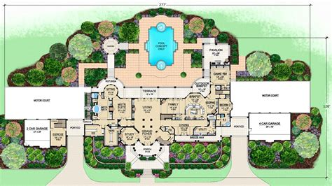 Ranch House Plans With 2 Master Suites by Mediterranean Mansion Floor Plans Home Design By John